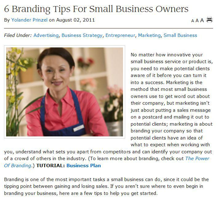 6 branding tips for small business owners