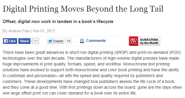 digital printing moves beyond the long tail