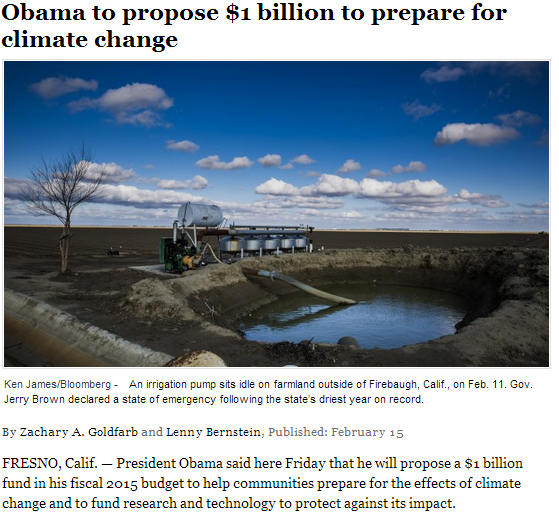 obama to propose 1 billion to prepare for climate change