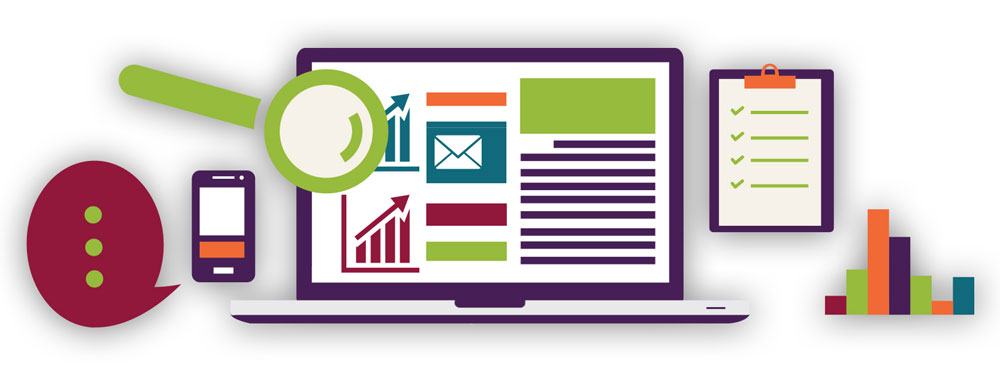 SEO Computer Desktop and Mobile Analytics